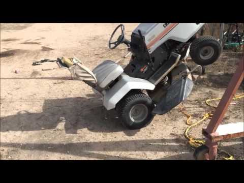 how to replace the belt on a craftsman riding mower