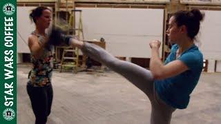 Daisy Ridley and John Boyega Training for Rey and Finn