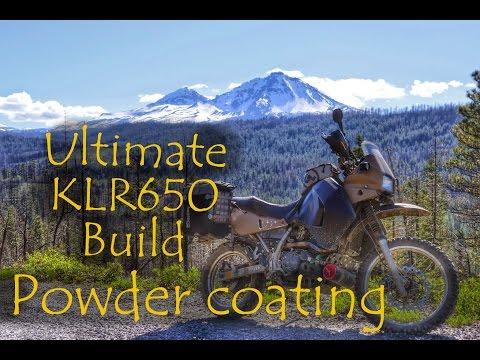 Ultimate KLR650 Build - Powder Coating Frame