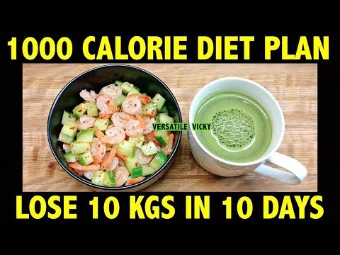 HOW TO LOSE WEIGHT FAST 10Kg in 10 Days | 1000 Calorie Diet Plan Hindi | Lose 1Kg In 1 Day