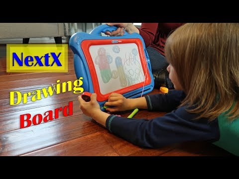 😊NextX MAGNETIC DRAWING BOARD - Creative Fun (Write Draw Learn) Toddler, Child Toy Review 👈
