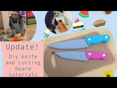 Update # Diy cardboard play kitchen knife and cutting board