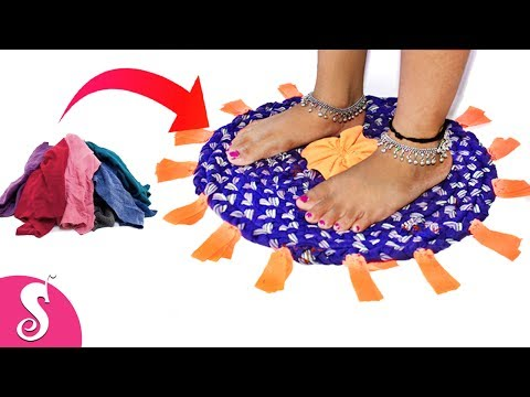 Old T-Shirt Recycling | Make beautiful Rugs,Door Mat,Table Mat,Carpet from old waste Clothes
