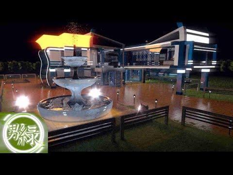 Futuristic/Modern house V4 (Blender 2.69)