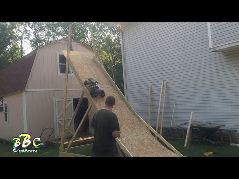 1000 Subscriber Test Jump on Sky Ramp over Barn