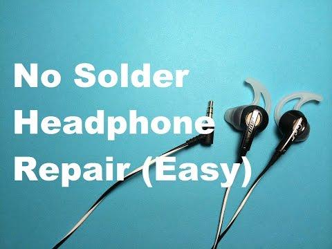 Headphone Repair No Solder (Easy) - Re-Posted Video