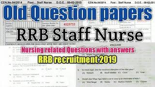 RRB Staff Nurse Exam 2019 Model Question Paper Part-1