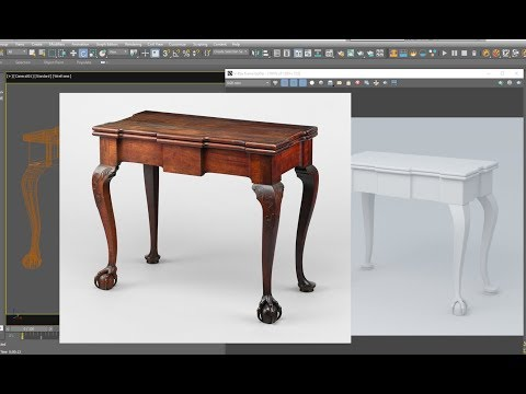 3dsmax model Old table