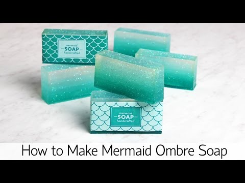How to Make Mermaid Ombre Soap