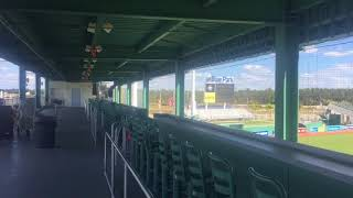 Green Monster at JetBlue Park in Fort Myers (a look at both levels)