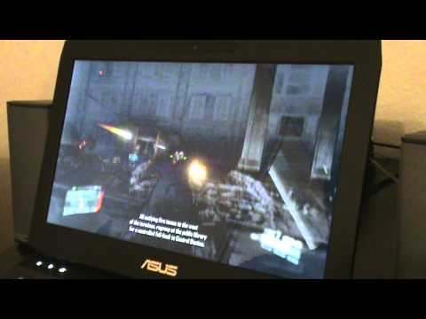Asus G53SW Gameing notebook (Crysis 2 gameplay)