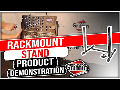 Griffin Rack Mount Studio Equipment Stand Product Review and Demonstration Model RS657