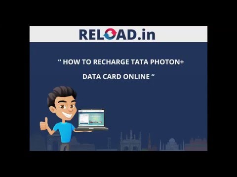 Tata Photon Data Card Recharge with Reload.in