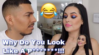 I Did My Makeup Horribly To See How My Husband Would React! *Hilarious*