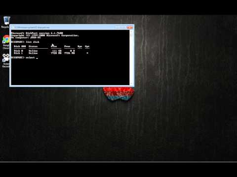 How to change a usb to Master Boot Record(MBR)