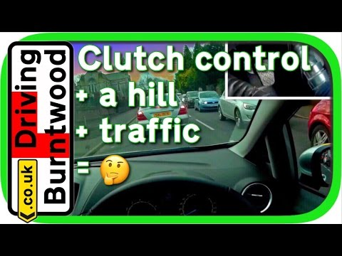 Clutch control in traffic & uphill in manual car - clutch cam and POV driving lesson 🛣🚗💨🚦