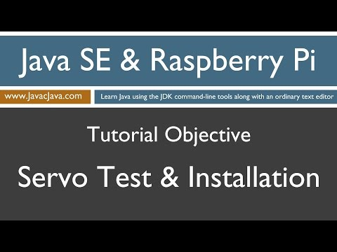 Java and Raspberry Pi Programming - Servo Test and Installation
