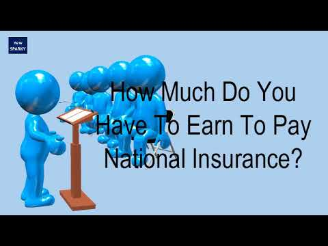 How Much Do You Have To Earn To Pay National Insurance?
