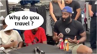 Download Kid calls out James Harden on his travel backstep ! Video