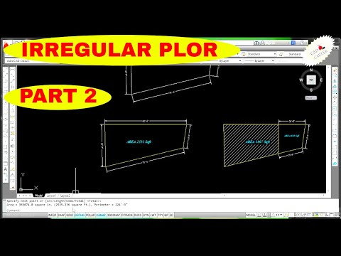 How To plot an irregular area in AutoCAD PART 2  || Create Diagonal Plot in Autocad || CAD CAREER