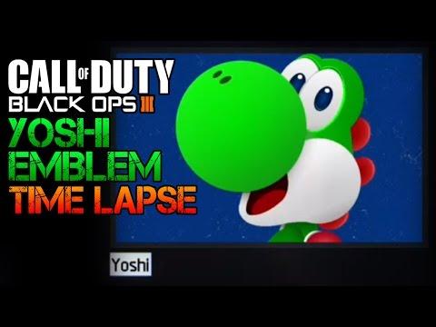 Yoshi Emblem Time Lapse | Black Ops 3 Epic Emblem Creations