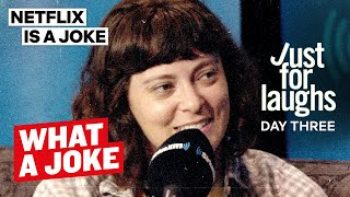 Rachel Bloom, Ms. Pat, Sam Jay & Emma Willmann at Just For Laughs | What A Joke | Netflix Is A Joke