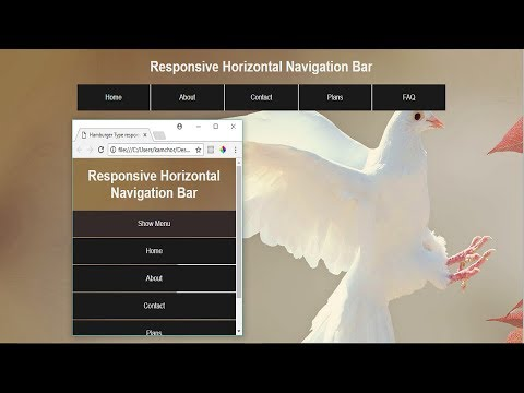 Hamburger Type Responsive Menu Navigation Only HTML and CSS Tutorial