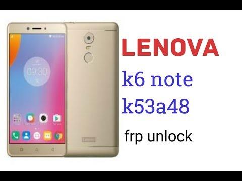 lenova k6 note k53a48 frp unlock with umt q fire