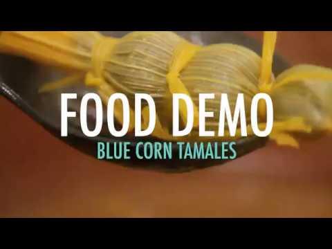 Food Demo - Blue Corn Tamales   FDIHB