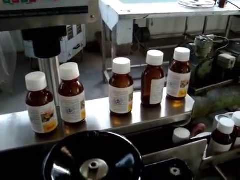 Vial /Bottle labeller machine, Syrup Bottle labeling machine with Hot Foil Printer