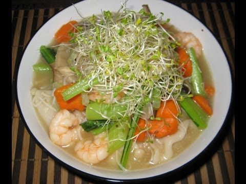 Rice Noodle Soup - Liz Kreate - RECIPE