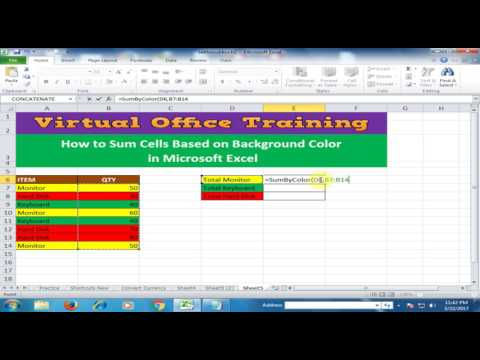 How to Sum Cells Based on Background Color in Microsoft Excel : Excel Tips