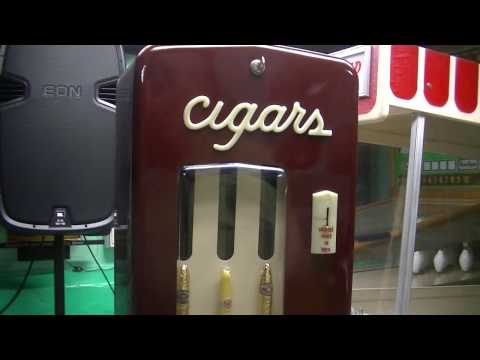 1940's 1950's Cigaromat cigar vending machine operation