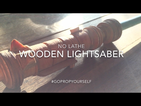 DIY Wooden Lightsaber (without a lathe)