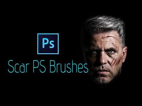 Photoshop CC Tutorial: Scar Skin Brush Effect