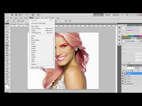 Adobe Photoshop CS5 - Changing Hair Colour, Eye Colour and Making Makeup Part 2