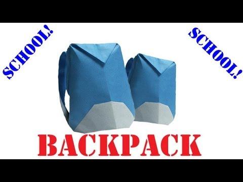 Origami Daily - 400: Backpack/Rucksack (Back to School) - TCGames [HD]