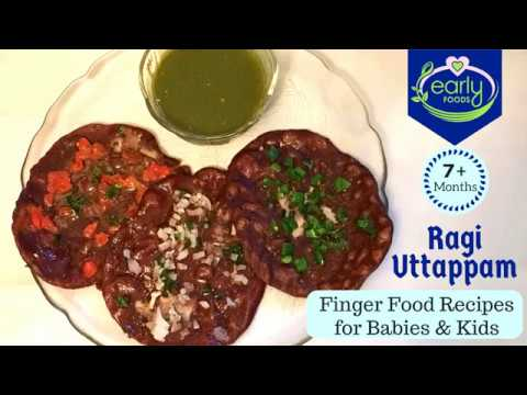 Ragi Uttapam | Baby & Toddler Food Recipes 7+ months | Early Foods
