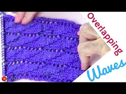 Overlapping Waves Lace Knitting Stitch