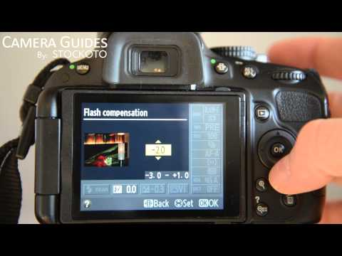 How to set Flash and its modes on a Nikon D5100 , D5200, D5300