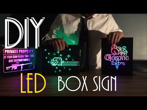 DIY led box sign