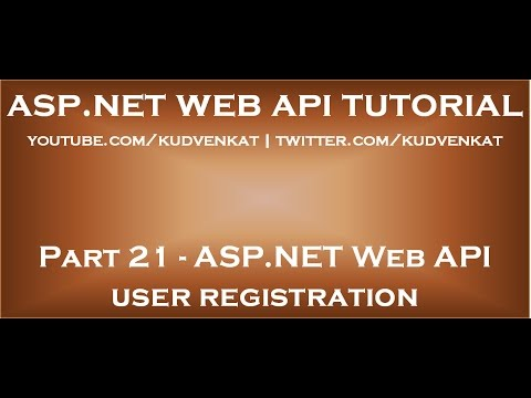 ASP NET Web API user registration