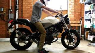 Honda VTR250 exhaust sound and fly by - PakVim net HD Vdieos