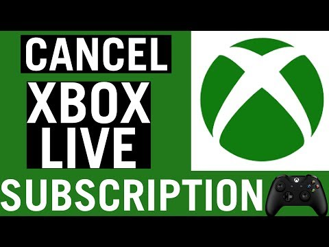 how to cancel xbox live subscriptions [2018]