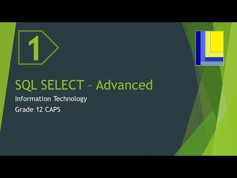 SQL Advanced - SELECT queries (part 1)