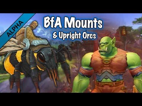 Jessiehealz - Current New Mounts & Orc Posture Display (BfA Alpha)