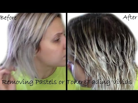 Removing Pastel Hair Color Or Toner | Baking Soda Method