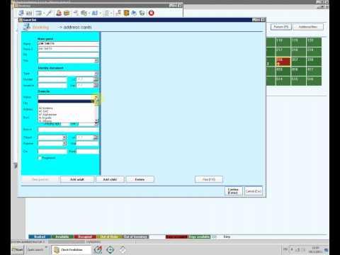 7. Address cards and registration in Evolution 2011 Hotel Management Software