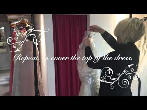 Packing your wedding dress in your hand luggage