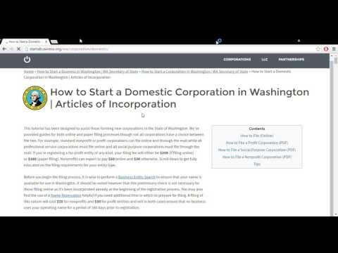 How to Start a Corporation in Washington | WA Secretary of State